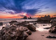 Mars (meeyak) Tags: ocean california longexposure nightphotography sunset mars beach night nikon rocks waves rocky socal slowshutter southerncalifornia orangecounty oc westcoast coronadelmar cdm d800 ndfilter 1635mm littlecorona meeyak