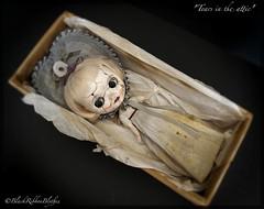 "Latest doll ""Tears in the attic"" (Helen CW - Black Ribbon Blythes) Tags: blythe artdoll blythedoll artistdoll customdoll customblythedoll gothicdoll blackribbonblythes artistblythedoll gothicblythedoll blythecustomiser"