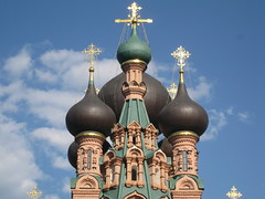 Easter Day (VERUSHKA4) Tags: sky cloud church architecture canon gold spring fantastic day cityscape view cathedral image russia top moscow decoration onions ciel april capture decor vue croix astounding scatto