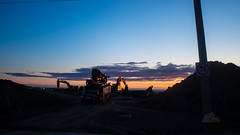 5:45 AM - Time to start your day (_Matt_T_) Tags: construction k5iis pentax smcpm20mmf4 sijun2016 singlechallenges equipment sunrise wide angle