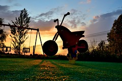Sunset ride (sykora_greg) Tags: sunset nikon ride sigma 1770 plac zabaw d3300