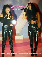 As Mineirinhas in vinyl pants (Plastic Fashion Photos) Tags: pants sandra vinyl plastic singer trousers valeria pvc barros mineirinhas