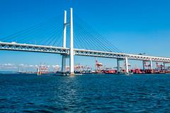 Yokohama Bay Bridge (Arutemu) Tags: city sea japan canon asian japanese asia cityscape ciudad  yokohama kanagawa japonesa  japon  japones  japonais          yokohamabay  japonaise  eos50d