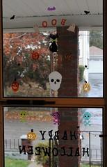 (spotboslow) Tags: halloween watertown massachusetts windowclings