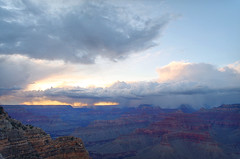 DSC_0017 powell point storm at sunset hdr 850 (guine) Tags: sunset storm clouds rocks grandcanyon canyon hdr luminance grandcanyonnationalpark qtpfsgui