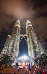 Petronas Twin Towers (eking86) Tags: travel beautiful architecture night lights amazing asia bright petronas towers explore malaysia twintowers kualalumpur