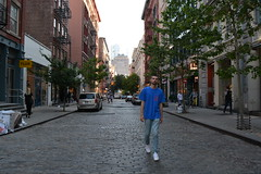 'Walking' i. (miranda.valenti12) Tags: street new york city trees people ny streets building tree cars car architecture standing buildings walking outside outdoors downtown jake modeling feel pablo like posing stance i