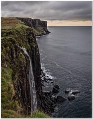 Ellishhadder waterfall (Hugh Stanton) Tags: rocks calm cliffs subset