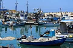 Jaffa harbour   1/5 (Pantchoa) Tags: isral jaffa telaviv port mditerrane mes extrieur bateaux barques bateauxdepche eau cte rivage paysage littoral moyenorient nikon 1685 d7100 vieuxjaffa jaffaoldcity pantchoa franoisdenodrest