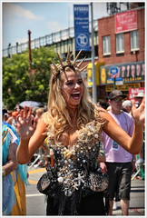 Hailey Clauson, featured model from Sports Illustrated, was an honorary guest-mermaid... (Alexxir) Tags: new york gay red white black hat sunglasses june brooklyn hair coneyisland island photography big model women long day dress purple dancing lace sportsillustrated jewelry sneakers parade transgender lgbt topless huge devil bead shorts homosexual mermaid coney lesbians cleavage 18 raven pasties transsexual mermaiddayparade 2016 june18 haileyclauson