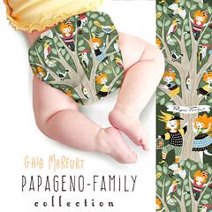 papagenomockup5 (Gaia Marfurt) Tags: sewing sewingforkids nappies econappies textiledesign babywear pattern selfmade selbstgemacht naehen spoonflower illustration artlicensing papageno mozart zauberflote