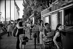Food Vendors At Penn's Landing (raymondclarkeimages) Tags: raymondclarkeimages rci 8one8studios pictureof vendor foodvendors philly philadelphia pennslanding blackandwhite mono 6d canon people waterfront usa monochrome eyecontact food fromans papasfritas street outdoor 2470mm28 public