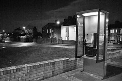 Upper Tulse Hill, London, SW2 (J@ck!) Tags: london night blackwhite phonebox sw2 londonboroughoflambeth uppertulsehill