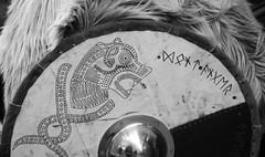 Jorvik Viking shield armour - York (MegaMog - www.ipernity.com/meg) Tags: york uk wallpaper england reflection slr photo nikon dragon image screensaver background g picture 365 nikkor viking geo jorvik afs 2012 runes dx 366 18200mm nikon 13556 one background nikkor vr ed vikingshield phottix d7000 geo desktop d7000 phottix vikingarmour vikingarmor vikingwriting vikingfur decoratedshield