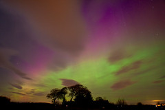 Purple rays to 60 degrees (quayman) Tags: scotland aberdeenshire aurora february northernlights 27th 2012 chapelofgarioch