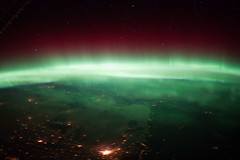 Aurora Borealis Over Canada (NASA, International Space Station, 01/25/12) (NASA's Marshall Space Flight Center) Tags: canada winnipeg manitoba nasa auroraborealis lakewinnipeg internationalspacestation earthatnight stationscience crewearthobservation stationresearch