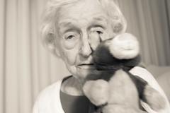 Dor's 95th Birthday 1-14-2012 (chinese johnny) Tags: portrait mom unicum cbar aporia canon7d lifeinmonoaward robertcapaaward flickrunitedaward artisawoman berportraits