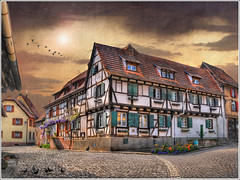 The green shutters (Jean-Michel Priaux) Tags: road house france texture home architecture photoshop way nikon village place alsace habitat maison rue picturesque hdr pavel colombage habitation timbered d90 pittoresque kaysersberg superaplus aplusphoto mygearandme ringexcellence flickrstruereflection1