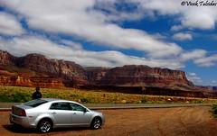 Driving in the Canyons (Vivek Tulsidas) Tags: arizona utah grandcanyon canonpowershot kaibab