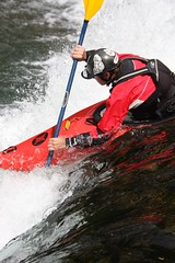 Eric on the Chiroro creek Kayaking extreme Japan