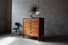 Elegant Mid Century Modern Walnut Tall Hi-boy/ Chest of Drawers (1960's) (Kennyk@k2modern.com) Tags: chicago mushroom lamp norway modern century vintage denmark paul baker sweden milo chest retro edward jens lane 1950s danish era tall 1960s eames dunbar hooker laurel mid drawers scandinavian drexel mainline wormley baughman risom mccobb mdoern