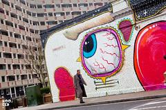 Sweet Toof (Hookedblog) Tags: pink urban streetart london art insect graffiti teeth exhibition shoreditch bricklane oldstreet eastlondon sweettoof pinkteeth hookedblog markrigney