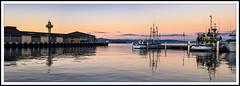 Sunset at Hobart (dtmateojr) Tags: winter sunset sea panorama seascape pier pentax harbour yacht magenta sigma australia panoramic sail tasmania hobart 1770 k5 panograph dtmateojr