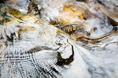 Streaming Abstract (barkingduck99) Tags: longexposure blue sky copyright orange white abstract motion blur color reflection green nature water leaves lines yellow river rocks soft pattern glow stripes curves perspective smooth arc nj dreamy swirl curl shallow concept splash richardkownacki