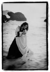 Model vs Ocean (Jason Andrescavage) Tags: ocean leica bw beach fashion model san francisco baker dress trix cape kelsey