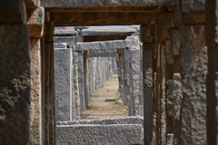 Ancient marketplace of Hampi (Vive le Roi) Tags: india slr tourism architecture ancient ruins rocks market medieval historical karnataka pillars incredible hampi hospet incredibleindia ruinsofindia vijaynagarempire vijaynagara ancientmarketplace nikond3100