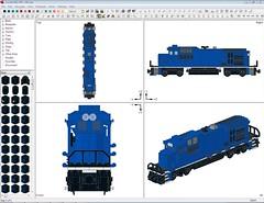 Conrail B23-S7R WIP (LaroMX) Tags: lego 7 super ge conrail b237 b237r b23s7 b23s7r