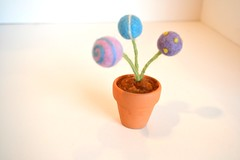 Needle Felted Billy Ball Flowers in Pot (Things By V) Tags: felting etsy eco needlefelted naturaltoys waldorftoys thingsbyv