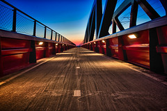 Blue Hour Voyage (Edwin van Nuil Photography) Tags: bridge winter hdr zwolle geocity exif:iso_speed=100 exif:focal_length=24mm exif:make=sony camera:make=sony geostate geocountrys exif:aperture=90 nex7 hanzeboog sonynex7 zeisssonnarte24mmf18za camera:model=nex7 exif:model=nex7 exif:lens=e24mmf18za