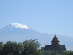 St.Gayane Church with Mount Ararat (Alexanyan) Tags: city mountain snow church see kirche christian mount holy chiesa armenia christianity orthodox eglise snowscape armenian ararat armenien caucas armenie etchmiadzin caucasia surp kayane   hayasdan qayane