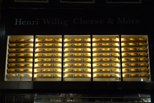 Vitrine de Henri Willig Cheese & More - Amsterdam, janvier 2012