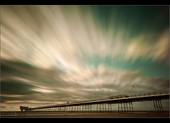 Burst........ (Digital Diary........) Tags: longexposure sunset beach clouds movement le southport weldingglass