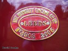 D2721 Hunslet Works Plate on 0-4-0ST Annie @ Wicksteed Park 11.6.11 (davidncooke_686) Tags: uk station railway steam locomotive ng gauge narrow