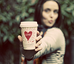Day 144-Heart (amandanpowell) Tags: selfportrait love cup design heart starbucks 365 valentinesday febphotoaday