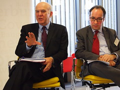 Vince Cable & Sir Merrick Cockell