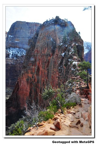 Angels Landing in Winter