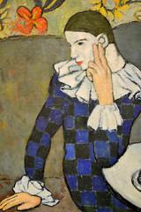 Pablo Picasso - Seated Harlequin, 1901 (generatorrr) Tags: new york city usa ny art museum us manhattan united states met metropolitan themet metropolitanmuseumofart 1872 museummile nationalhistoriclandmark