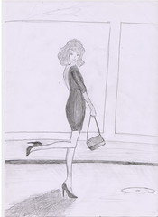 coquet (Irina Bolohan) Tags: paris france cute beautiful fashion dress drawing chic runaway ira bolohan