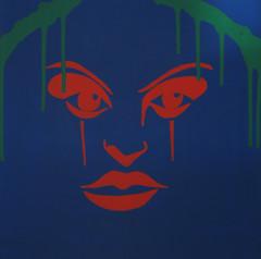 F18 (tonitonim) Tags: girls wild people verde green art girl face silhouette comics rebel eyes women arte witch outsider blu alien suicide nuclear lips drip comix revolution demon anarchy draw occhio dripping strega intruso tonitonim