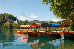 Reflections @ Bled lake (Stefan Cioata) Tags: blue summer vacation lake holiday church nature water beautiful relax boats photography photo europa europe paradise colours image sale empty great stock eu best explore slovenia bled getty top10 available outstanding estival jezero radovljica blejsko