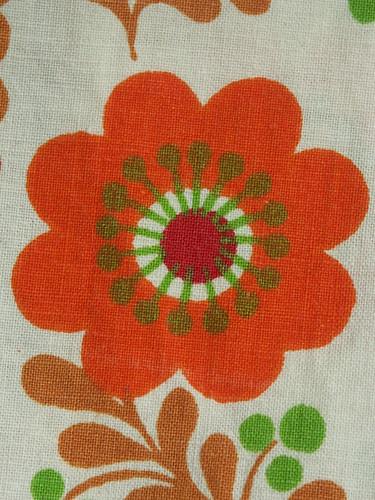 Orange petals, green stamens