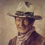 "<b>John Wayne</b><br/> Roy Hampton (1923-) ""John Wayne"" Oil, 1978 LFAC #948<a href=""http://farm8.static.flickr.com/7057/6926044771_2dcce1b0cc_o.jpg"" title=""High res"">∝</a>"