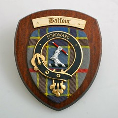 balfour clan crest plaque