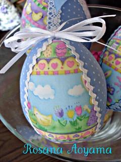 ovos de  pascoa em tecido