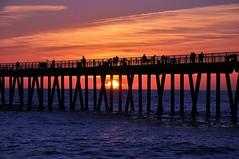 Hermosa Sunset (electricapples) Tags: ocean california sunset beach night pier cloudy hermosabeach