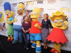 Simpsons 500th Episode Marathon - the Simpsons, Al Jean, Nancy Cartwright, and Yeardley Smith (Lisa Simpson)